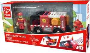 Hape Masina De Pompieri Cu Sirena