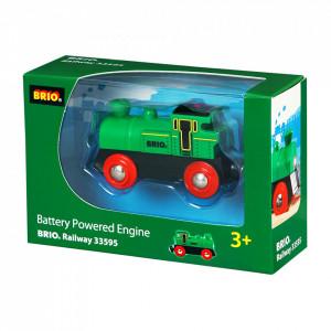 Locomotiva Mica Verde Cu Baterii