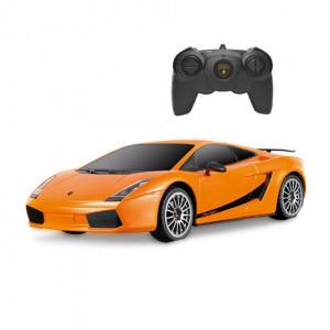 Masina Cu Telecomanda Lamborghini Portocaliu Cu Scara 1 La 24