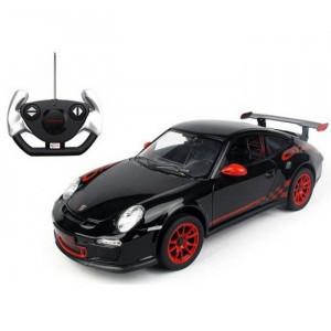 Masina Cu Telecomanda Porsche Gt3 Negru Cu Scara 1 La 14