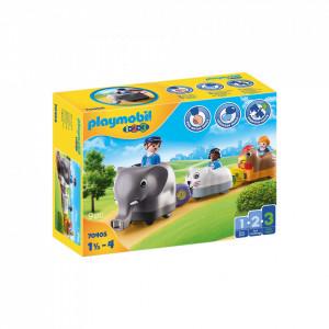 Playmobil 1.2.3 Tren Cu Animalute