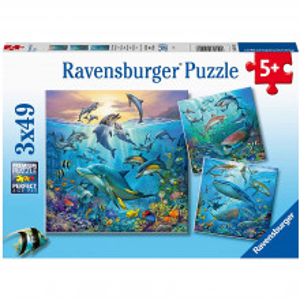 Puzzle Lumea Subacvatica, 3X49 Piese