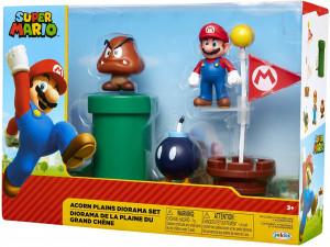 Set de joaca diorama Super Mario Nintendo, model Acorn Plains cu figurina 6 cm