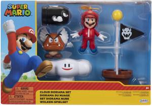 Set de joaca diorama Super Mario Nintendo, model Cloud cu figurina 6 cm