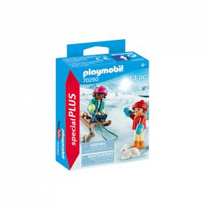 Set Playmobil Copii Cu Sanie
