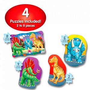 Set Primele Mele 4 Puzzle-Uri Dinozauri
