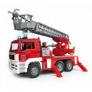 Bruder - Camion De Pompieri Man Tga Cu Scara, Pompa De Apa Si Sirena