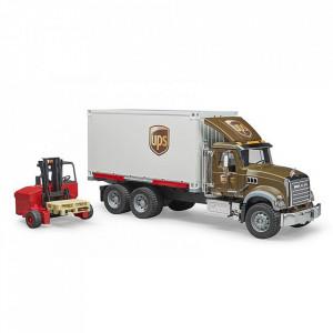 Bruder - Camion Ups Mack Granite Cu Stivuitor