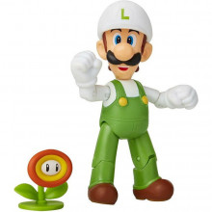 Figurina Nintendo Super Mario - Model Luigi cu floare de foc, 10 cm