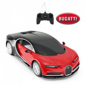 Masina Cu Telecomanda Bugatti Chiron Rosu Cu Scara 1 La 24