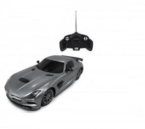 Masina Cu Telecomanda Mercedes-Benz Sls Amg Argintiu Cu Scara 1 La 18