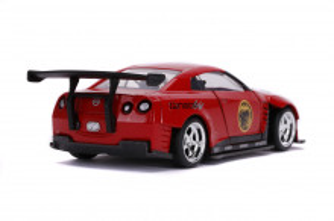 Masinuta Metalica Power Rangers 2009 Nissan Gt-R R35 Scara 1 La 32