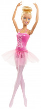 Papusa Barbie Balerina Blonda Cu Costum Roz