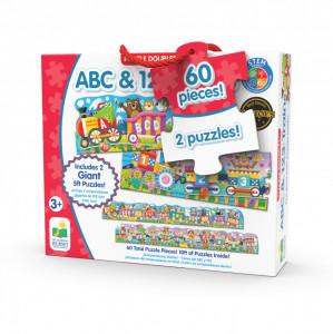 Set 2 Puzzle-Uri Trenul Urias Cu Numere Si Litere - Eng