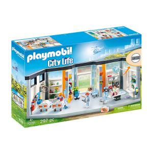 Set de joaca Playmobil City Life, Salon Spital Mobilat
