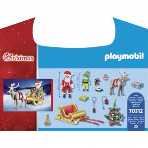 Set de joaca Playmobil Set Portabil, Mos Craciun Cu Sanie