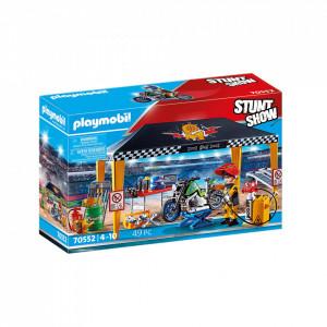 Set de joaca Playmobil Stunt Show - Cort Reparatii Auto