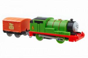 Thomas Trackmaster Locomotiva Percy Cu Vagon