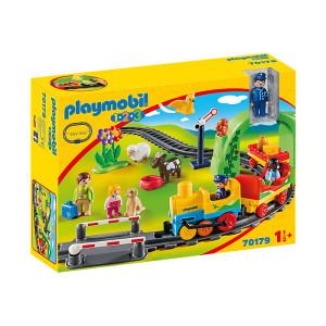 Set de joaca Playmobil 1.2.3, Tren Cu Statie
