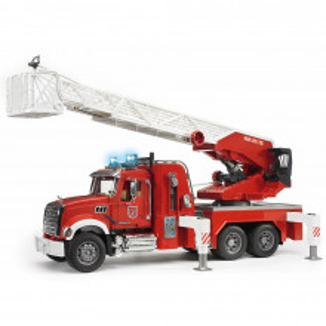 Bruder - Camion De Pompieri Mack Granite Cu Scara, Pompa De Apa Si Sirena