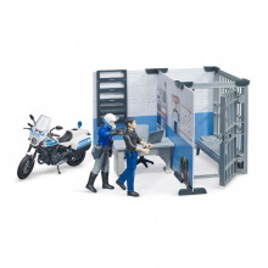 Bruder - Statie De Politie Cu Motocicleta