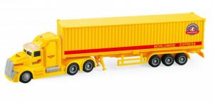 Camion Tir Livrare Rapida Frictiune Lumini Si Sunete Scara 1:50