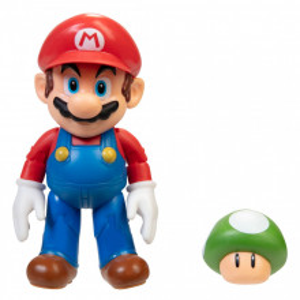 Figurina Nintendo Super Mario - Model Mario cu ciuperca, 10 cm