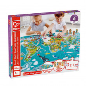 Hape Puzzle 2-In-1 Turul Lumii