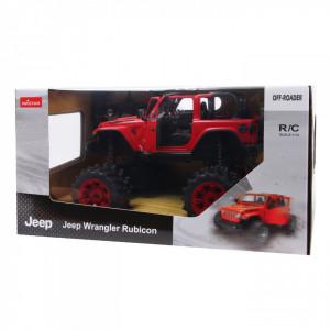 Masina Cu Telecomanda Jeep Wrangler Jl Rosu Cu Scara 1 La 14