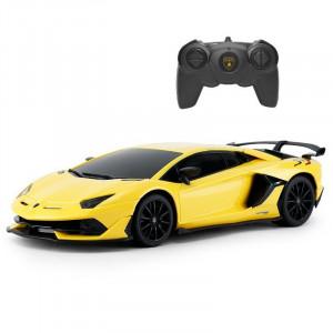Masina Cu Telecomanda Lamborghini Galben Cu Scara 1 La 24
