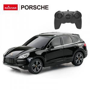 Masina Cu Telecomanda Porsche Cayenne Turbo Negru Cu Scara 1 La 24