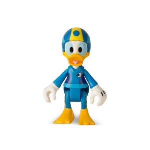 Masinuta transformabila + figurina Donald din Mickey si pilotii de curse
