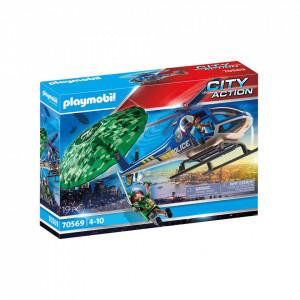 Playmobil Elicopter De Politie Si Parasutist