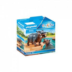 Playmobil Hipopotam Cu Pui