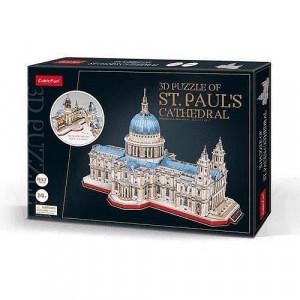 Puzzle 3D Catedrala St. Paul (Nivel Complex 643 Piese)