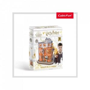 Puzzle 3D Harry Potter - Magazin Weasleys' 62 Piese