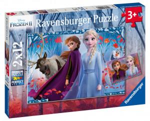 Puzzle Frozen 2, 2X12 Piese