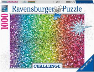 Puzzle Provocare Curcubeu Cu Sclipici, 1000 Piese