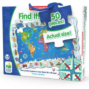 Puzzle Si Joc Harta Lumii