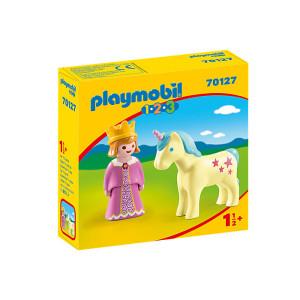Set de figurine Playmobil, 1.2.3 Printesa Cu Unicorn