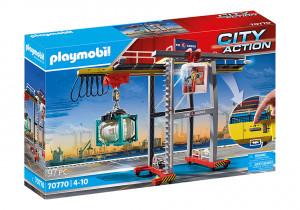 Set de joaca Playmobil Macara De Marfa Cu Container