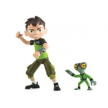 Ben 10 - Set 2 Figurine Ben si Grey - 12 cm