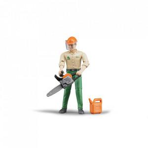 Bruder - Figurina Muncitor Forestier Cu Accesorii