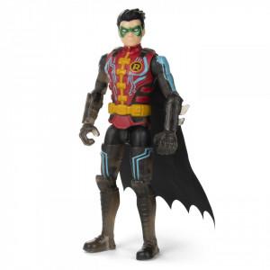 Figurina Robin Cu Costum Tech Si Articulata 10Cm Cu 3 Accesorii Surpriza