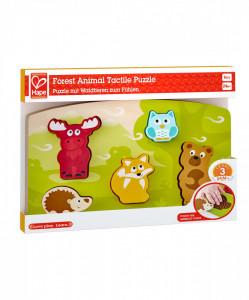 Hape Puzlle Tactil - Animalele Din Padure