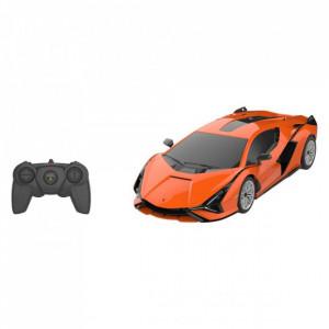 Masina Cu Telecomanda Lamborghini Sian Portocaliu Cu Scara 1 La 24
