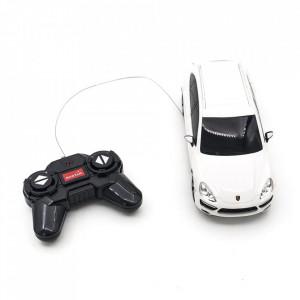 Masina Cu Telecomanda Porsche Cayenne Turbo Alb Cu Scara 1 La 24