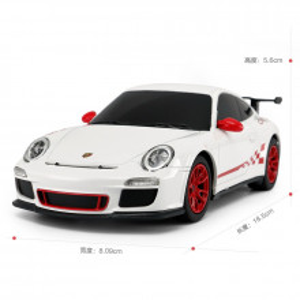 Masina Cu Telecomanda Porsche Gt3 Rs Alb Cu Scara 1 La 24