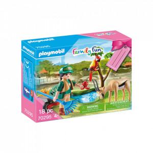 Playmobil Set Cadou Zoo Fetita Si Animale
