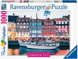 Puzzle Copenhaga Danemarca, 1000 Piese